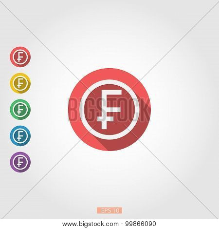 Around square icon badge franc