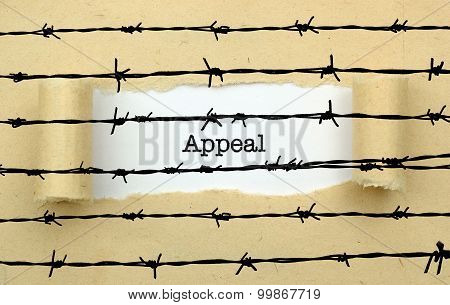 Appeal Page Against Barbwire  Concept