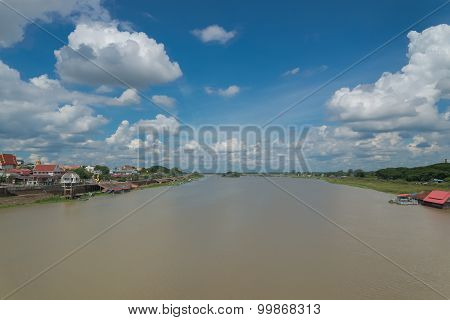 Bridge on Mun River Ubon Ratchathani