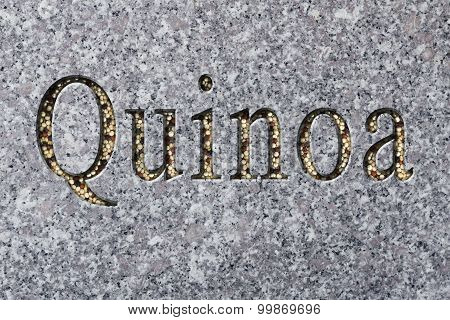 Quinoa Text Engraving