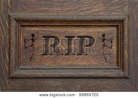 Engraved Coffin Rip Skeleton