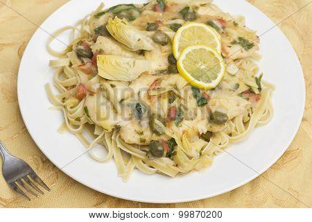 Chicken Piccata Linguine