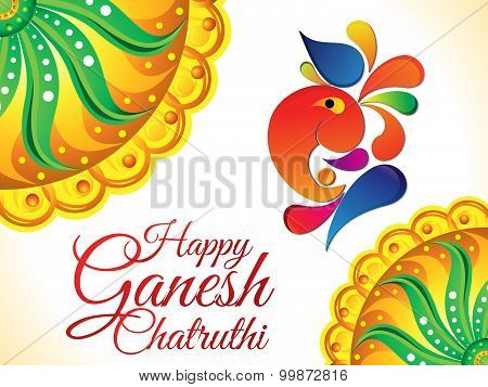 Abstract Artistic Ganesh Chaturthi Background