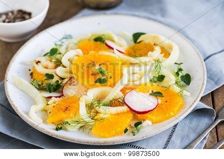 Orange With Fennel And Radish Salad
