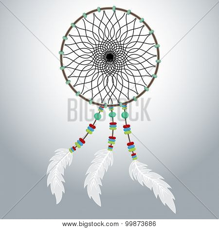An image of a native American dreamcatcher.