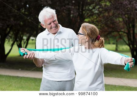 Fit Elderly Male And Female