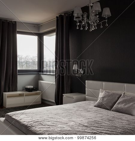 Dark Expensive Bedroom