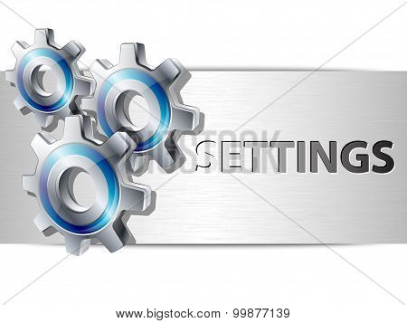 Settings Panel Template For Web Design And Applications
