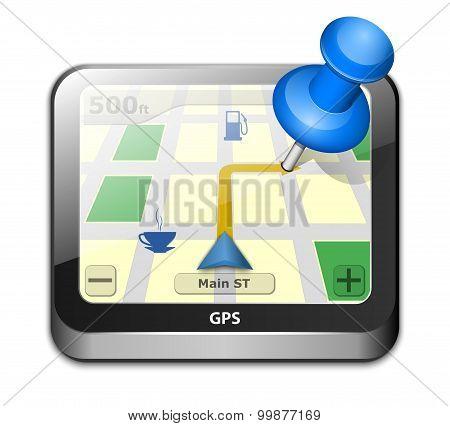 Gps Navigator Icon. Vector