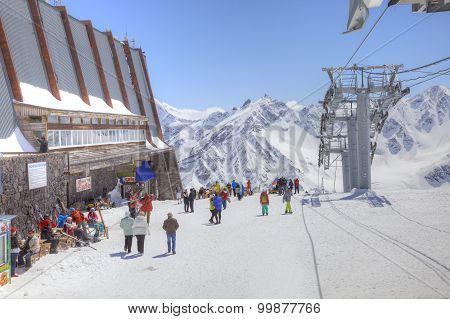 Elbrus. Station Of Aerial Lift