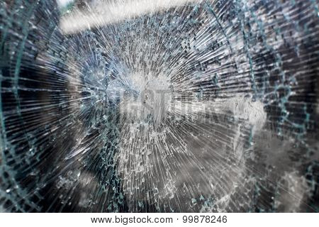 Cracked Broken Glass