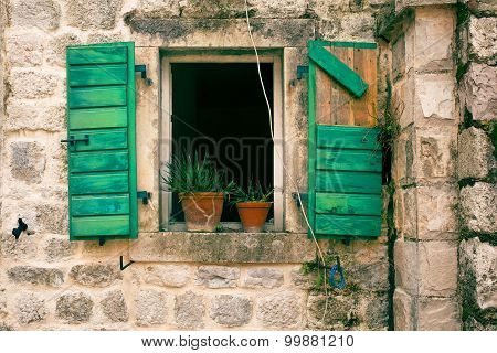 Window in an old stone house