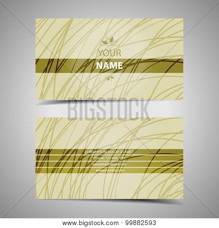 Vector modern designer business card