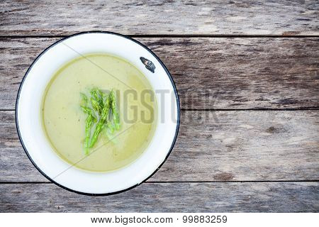 Homemade Cream Soup With Asparagus