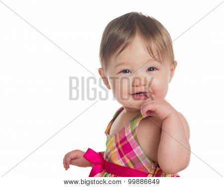 Head And Shoulders Portrait Of Caucasian Baby Girl