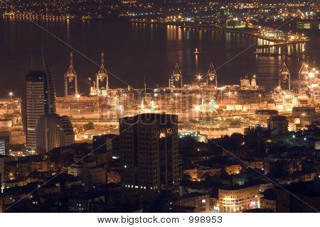 Vista aérea de la ciudad de Haifa