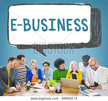 E-business Online Digital Marketing Commercial Concept