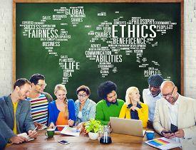 pic of moral  - Ethics Ideals Principles Morals Standards Concept - JPG