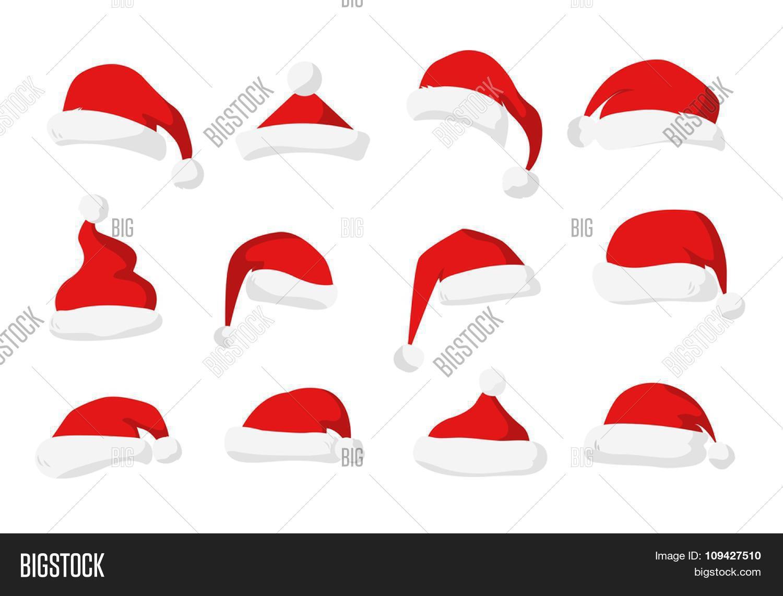 Santa claus red hat silhouette