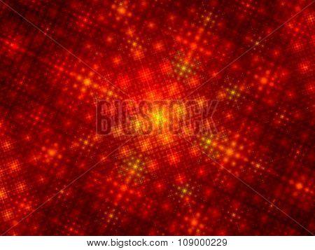 Fiery Glowing Fractal Grid