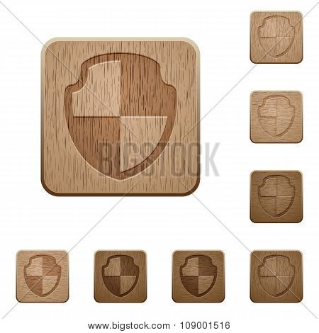 Shield Wooden Buttons