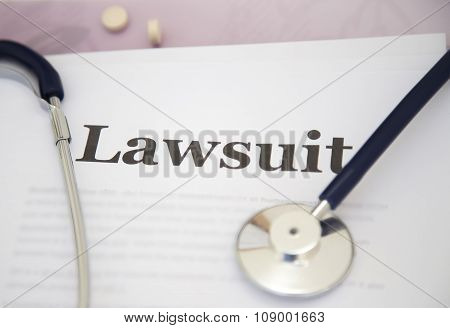 Medical Malpractice Paperwork Lawsuit Papers