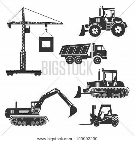 Construction Equipment Of An Icon