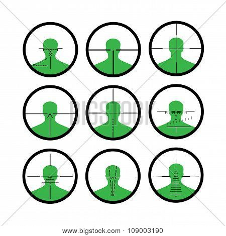 Silhouette Of The Person In A Riflescope