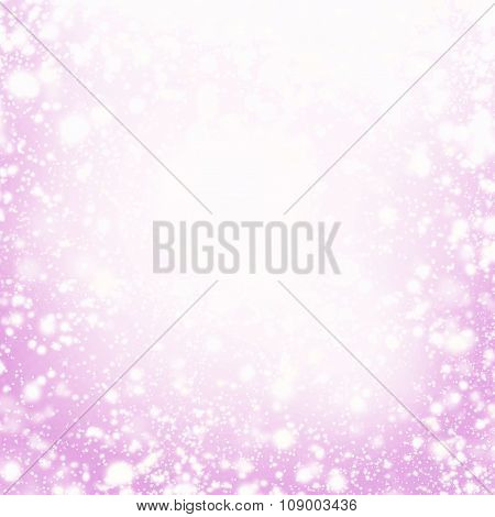 Holiday Abstract Background. Festive Christmas Elegant Abstract Background With Bokeh Lights  And St