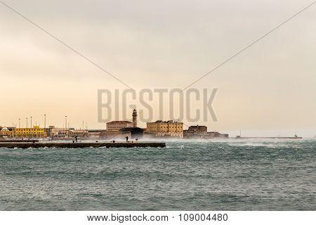 Wind On The Pier Of Trieste