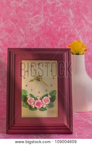 Frames On Pink Background.