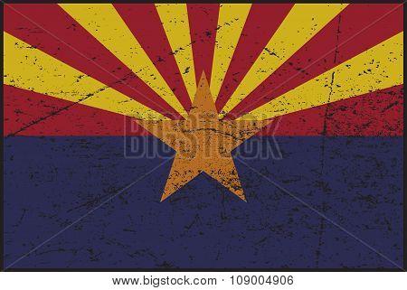 Arizona Flag Grunged