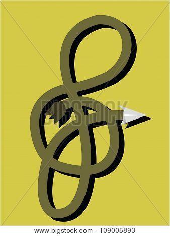 G-shaped key symbol
