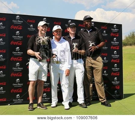 Tournament Winning Team Of Gary Player For Second Year On November 2015 In South Africa