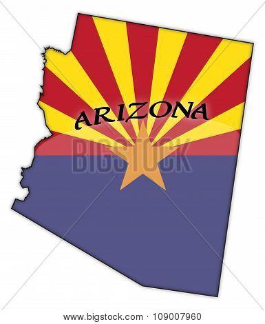 Arizona Flag In Map