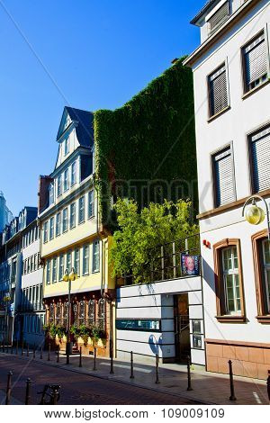 FRANKFURT, GERMANY - FEB 3, 2011: the Goethe Haus with museum in Frankfurt. It is the place of his youth and birth.