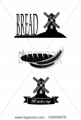 Elements Of The Symbol Of Bread For Your Design