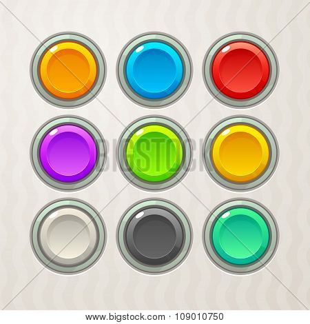 Colorful Game Buttons
