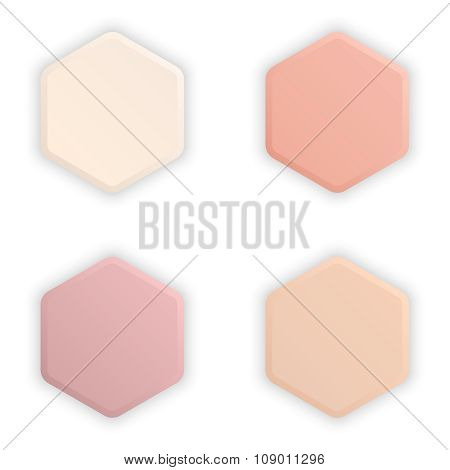 Empty Hexagonal 3D Buttons