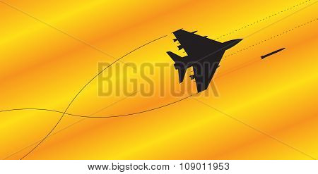 Fighter Jet Silhouette Fighting