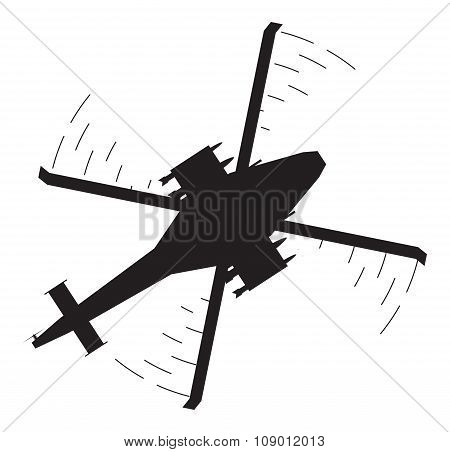 Attack Helicopter Silhouette