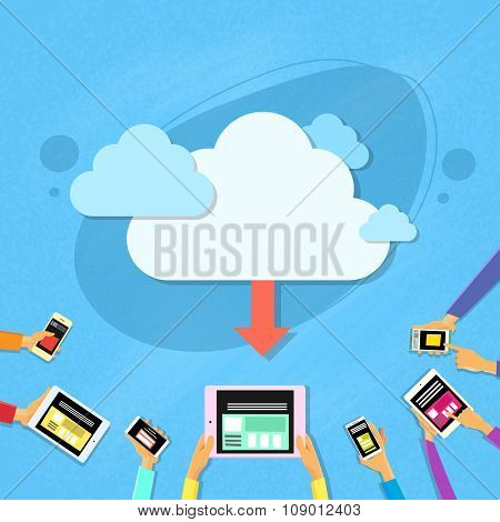 Smart Cell Phone Tablet Cloud Synchronize Upload Online