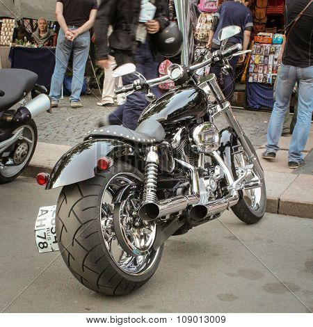 Bike With A Wide Rear Tire.