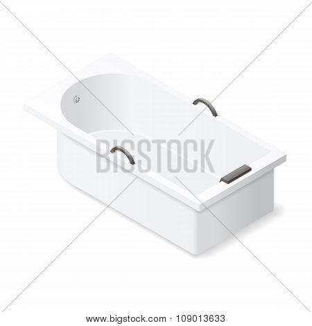 Bath Isometric Icon