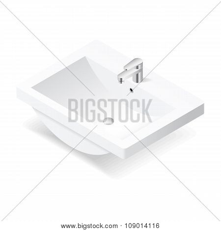 Washbasin Isometric Icon