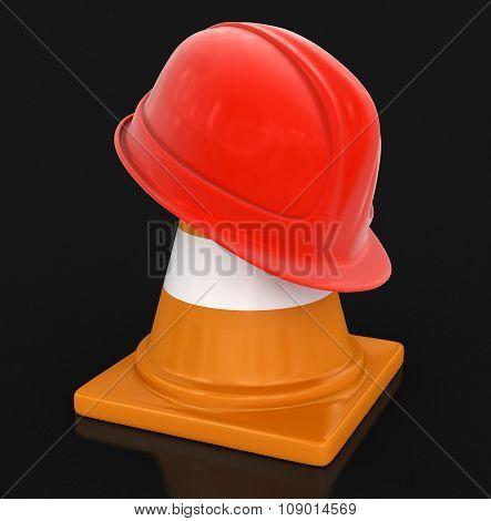 Helmet and traffic cones