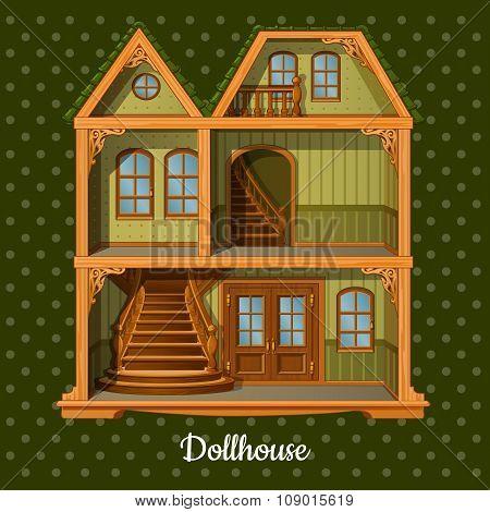 Modern three-storey dolls house