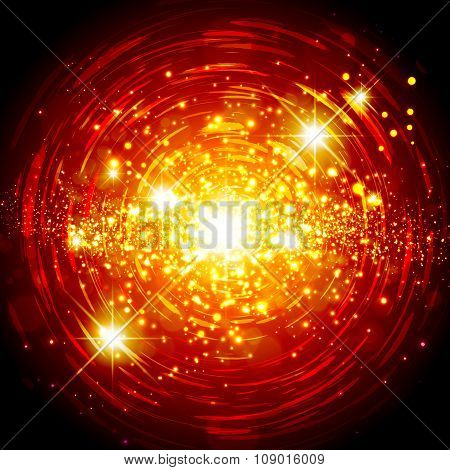 Abstract Bright Star Background