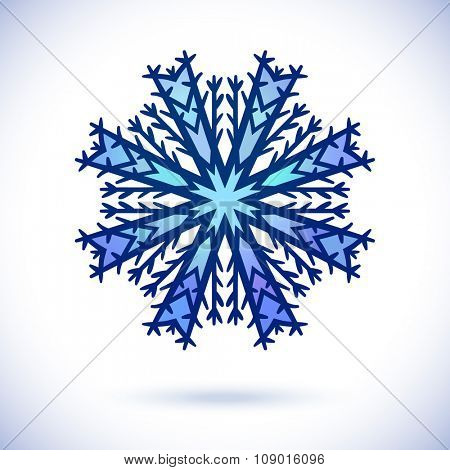 Snowflake, Isolated design element, Vector illustration