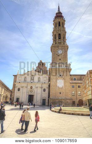 Saragossa, Plaza Del Pilar. San Salvador Cathedral